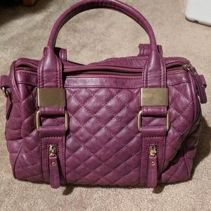 Quilted Purple Melie Bianco Faux Leather Bag